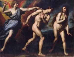 Adam et Eve bannis du Paradis (Ottavio Vannini).